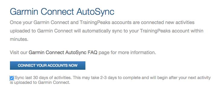 Синхронизация и Training Peaks