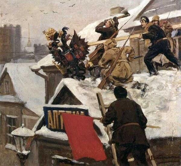 «Долой орла!». Художник Иван Владимиров, 1917 год
