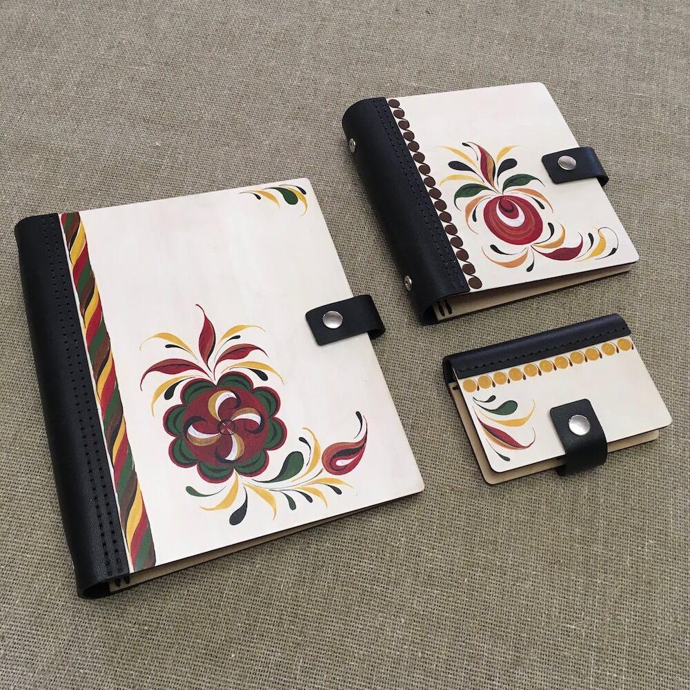 эксклюзивные блокноты, ежедневники, визитницы с ручной росписью