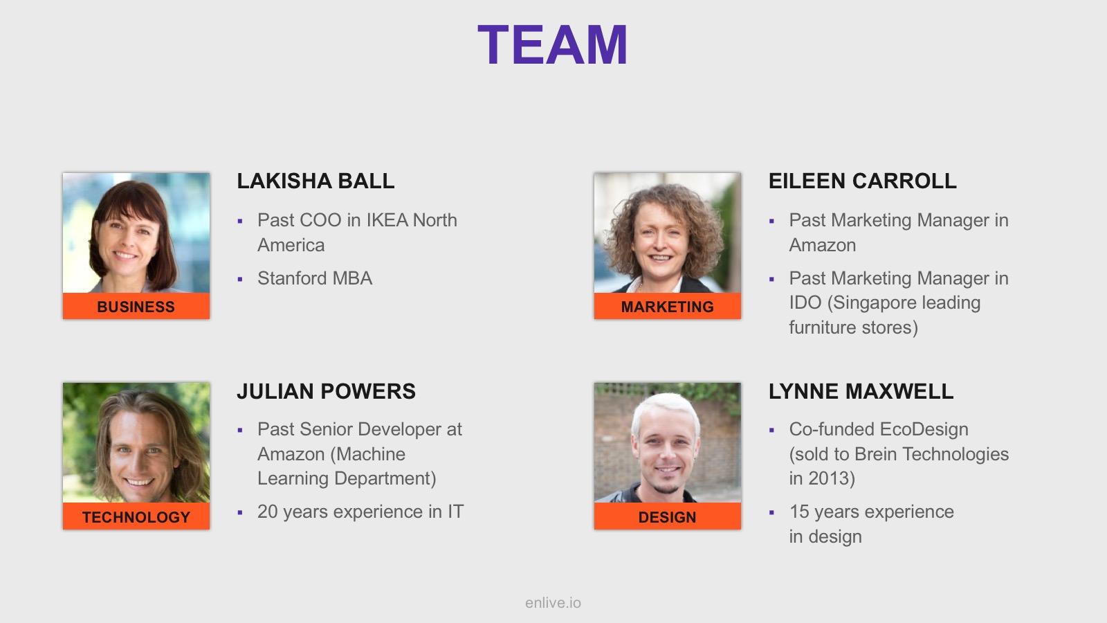 team slide pitch deck template