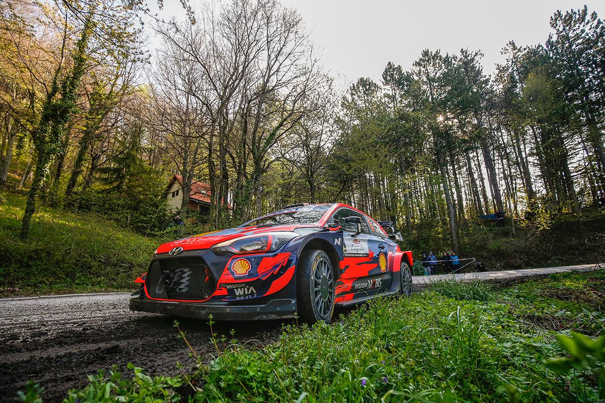 Отт Тянак и Мартин Ярвеоя, Hyundai i20 Coupe WRC, ралли Хорватия 2021