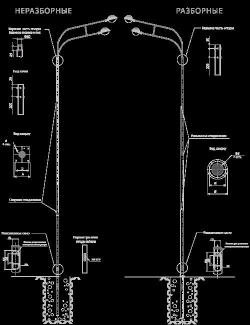 Опоры несиловые трубные тип НП и НФ