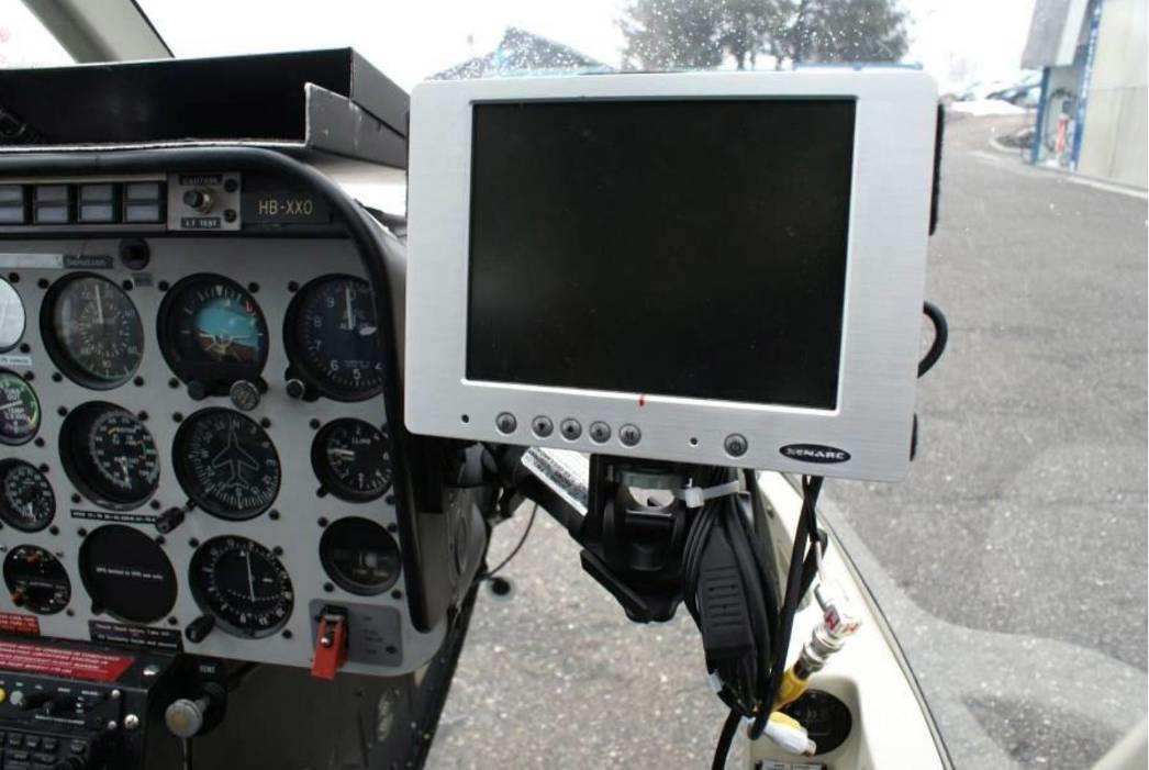 ALMA G2 Pilot Monitor Mounted to Side of Instrument Console.