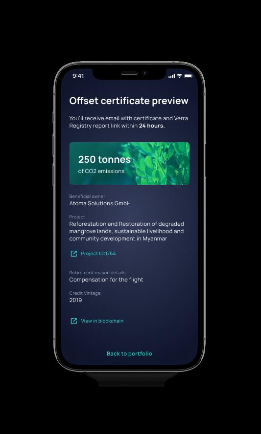 vlinder offset certificate