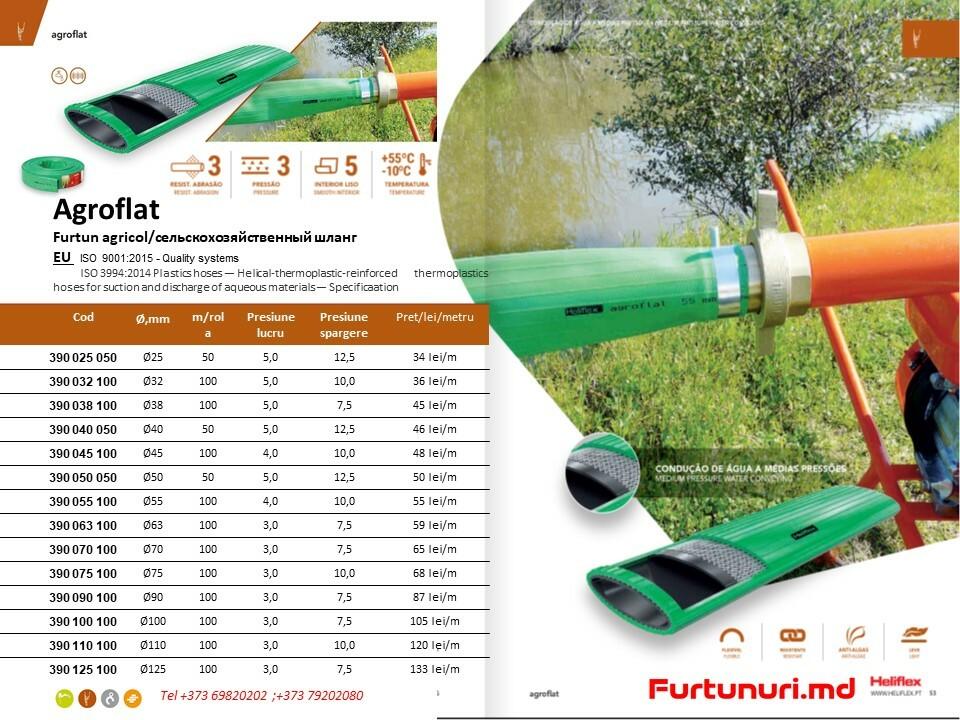 Furtun lay-flat Agroflat