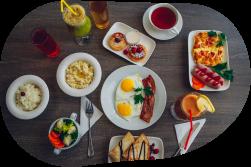 Заказ завтрака в собственном кафе