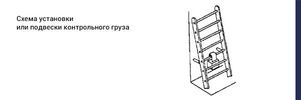 Схема установки или подвески контрольного груза