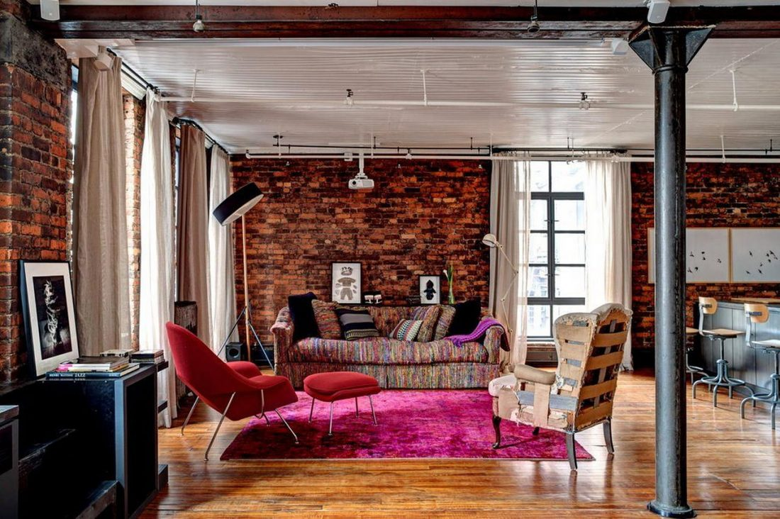 Гламурный лофт в интерьере квартиры