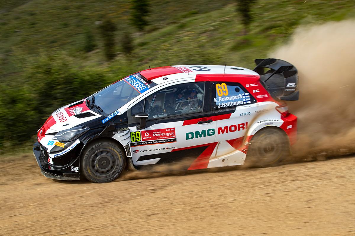 Калле Рованпера и Йонне Халттунен, Toyota Yaris WRC, ралли Португалия 2021