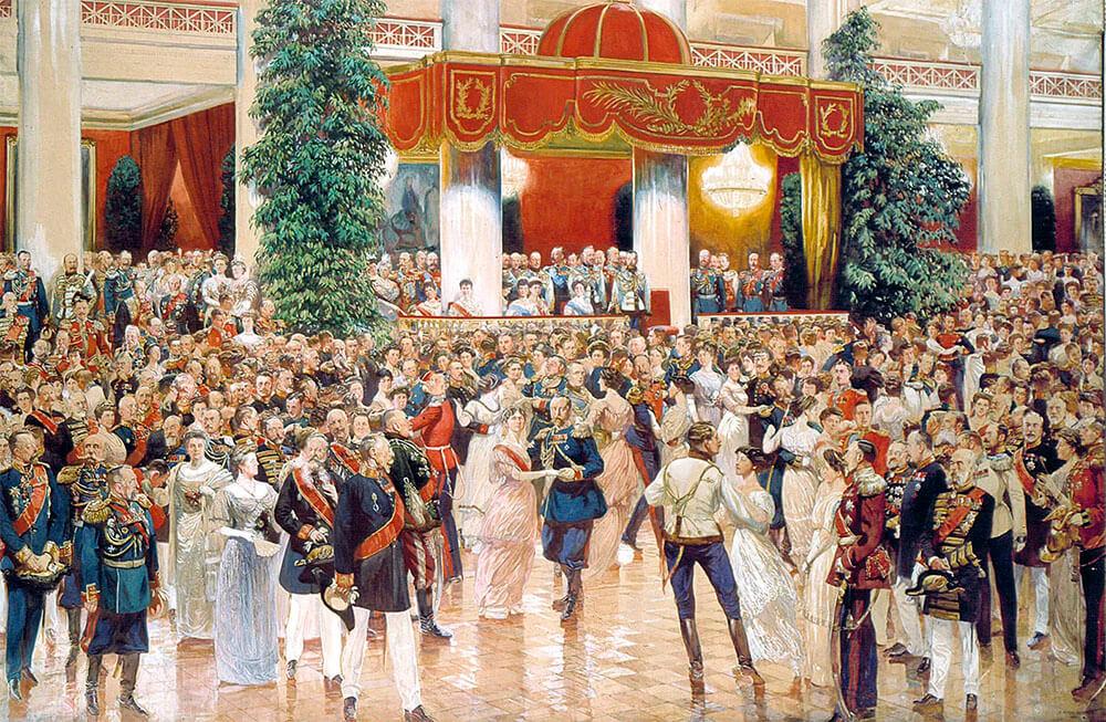 Бал в Петербургском Дворянском собрании 23 февраля 1913 года. Дмитрий Кардовский.