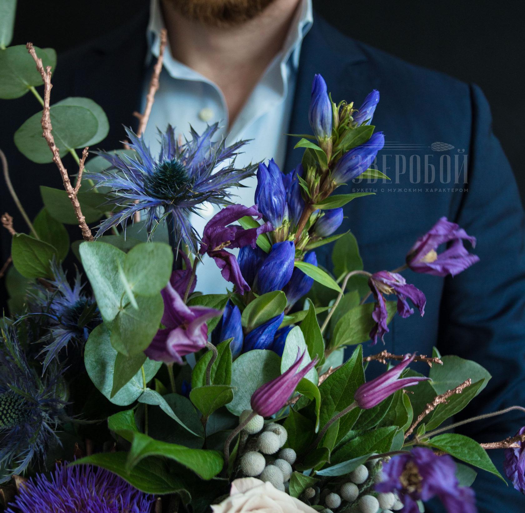 Форме шара, цветов мужской букет для мужчины фото