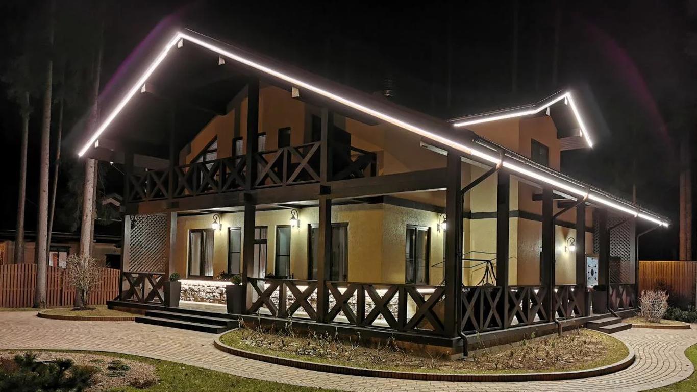 Подсветка дома светодиодной лентой в Кемерово