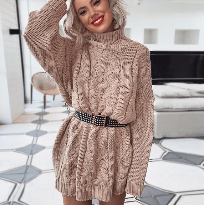 Платье-свитер в ТЦ «ПОРТ»