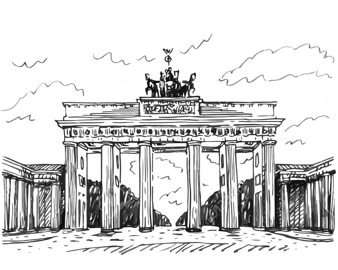 Достопримечательности германии картинки карандашом