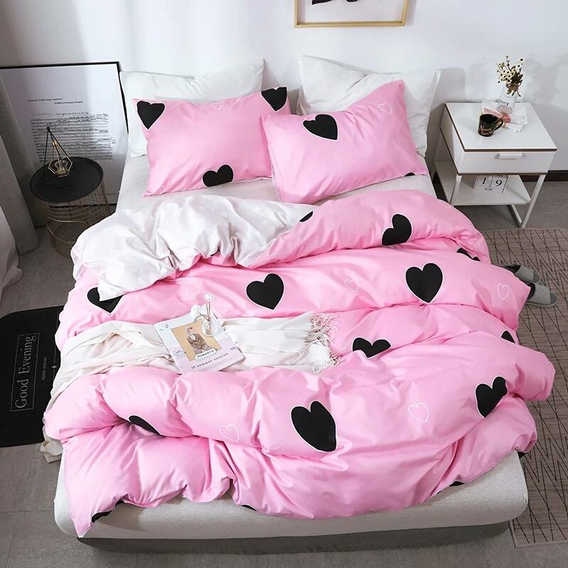 розовая любовь на мягкой постели мысль