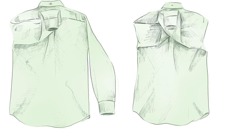 Складываем рубашку GANT, шаг 2