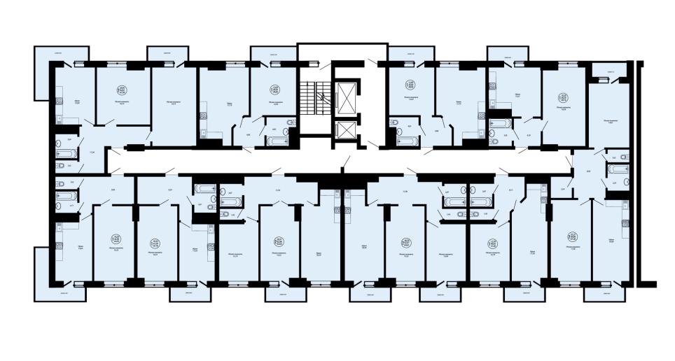 Планировки квартир ЖК Дом на Школьной в Краснодаре