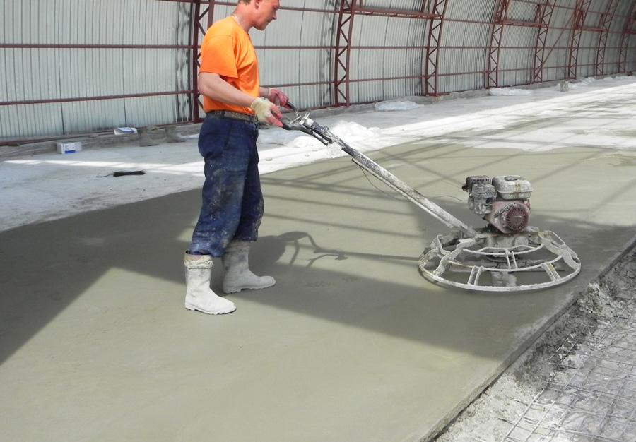технология затирки бетона
