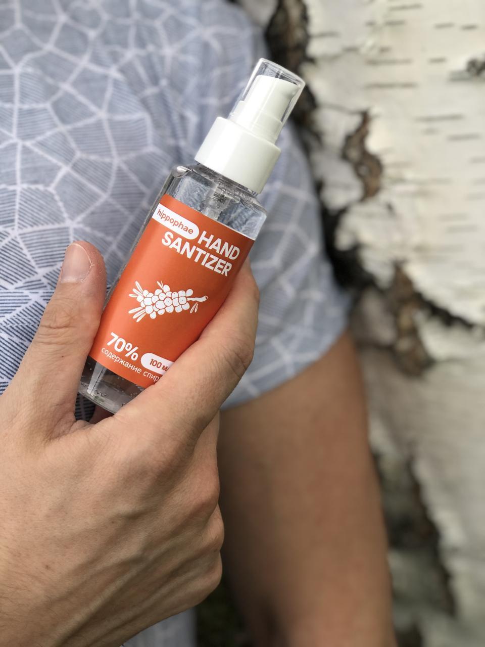 Антисептик для рук Hand Sanitizer Extra 100 мл с экстрактом облепихи на природе
