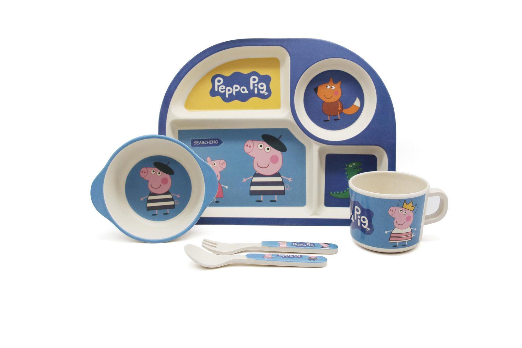 Набор посуды синяя Пепа