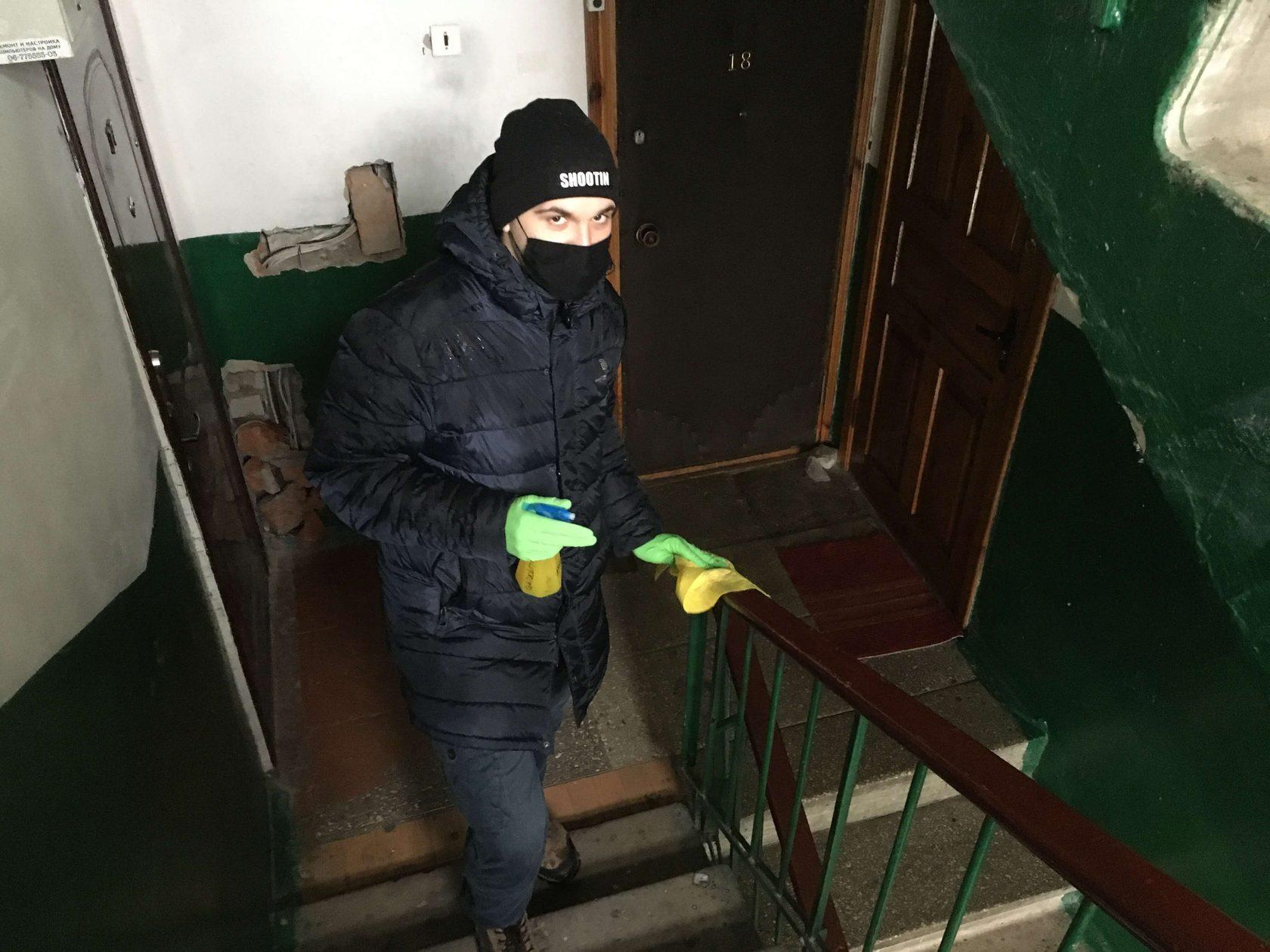 Житомирские активисты продолжают борьбу с коронавирусом