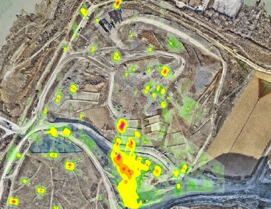Mapping natural and manmade methane emissions