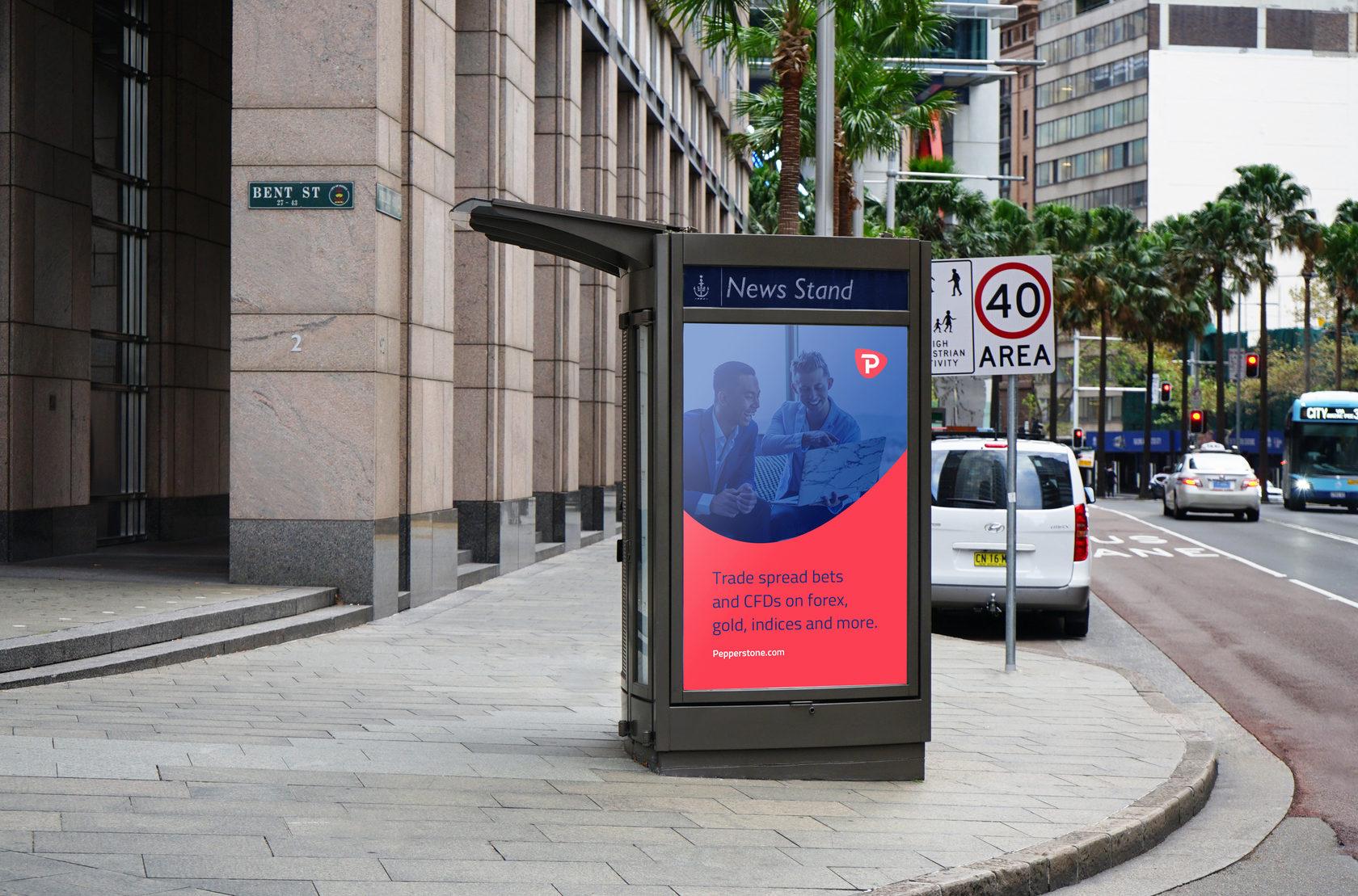 Pepperstone outdoor advertisement