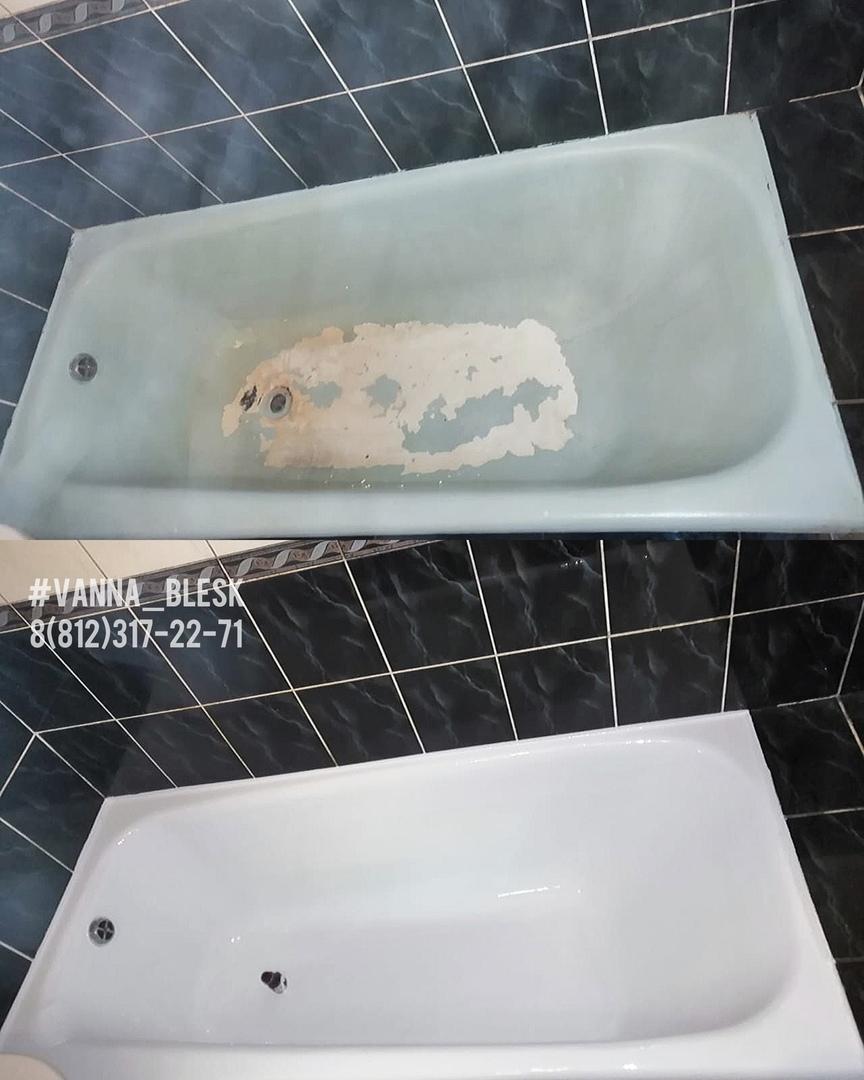 Реставрация ванны жидким акрилом Сертолово