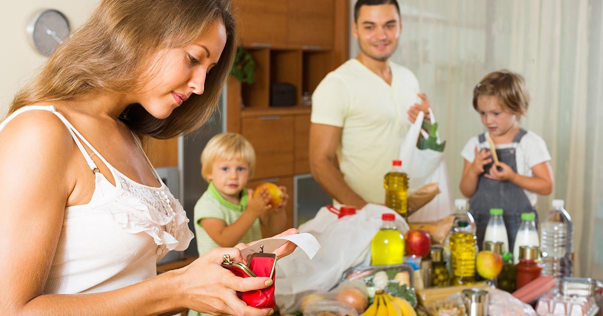 семья с минимальным доходом