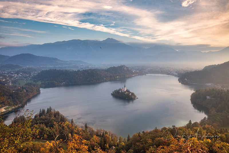 Lake Bled from above, best view