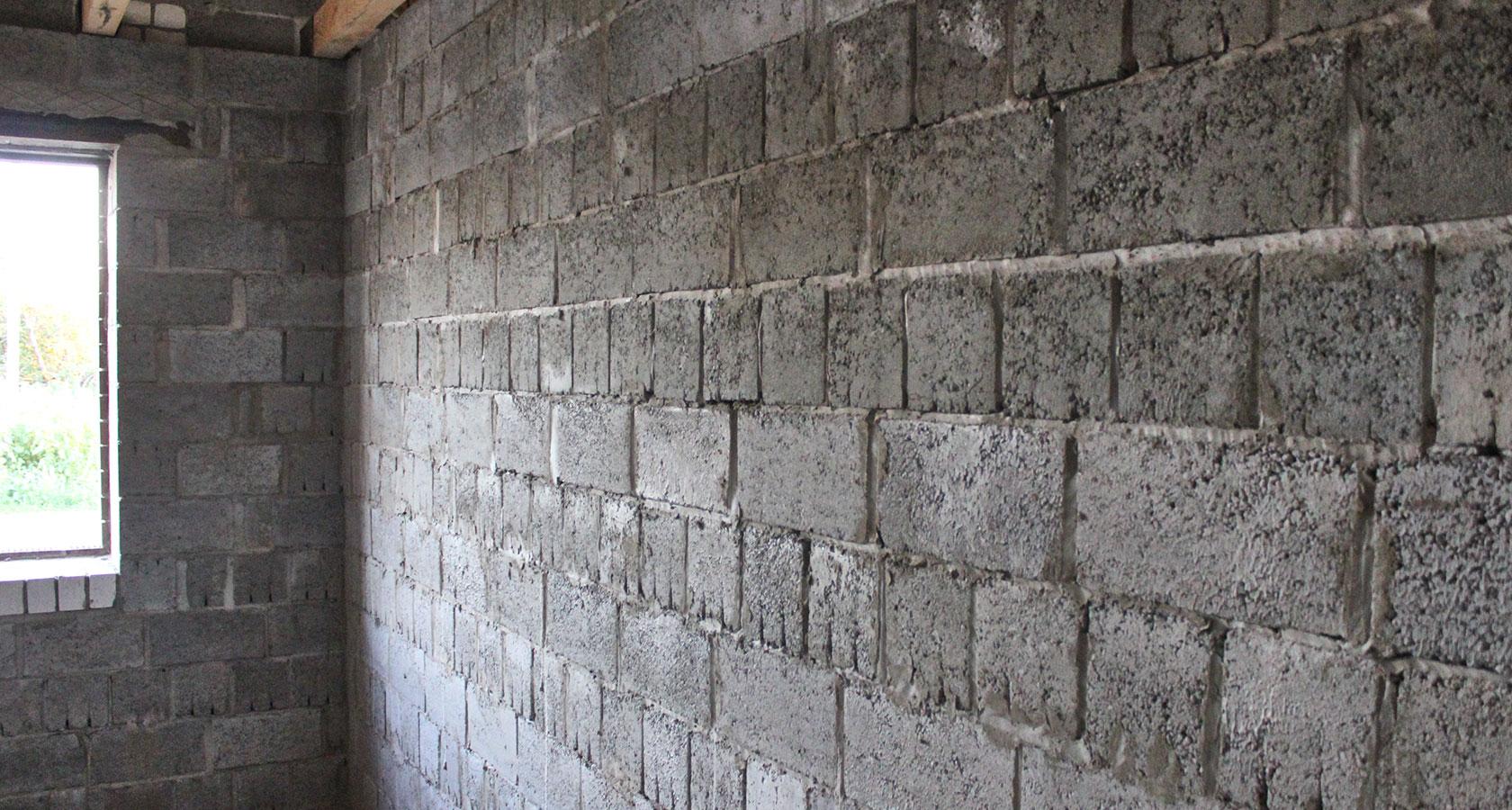 шлакоблочные стены