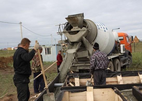 Отгрузка бетона жидкое стекло строительных растворах