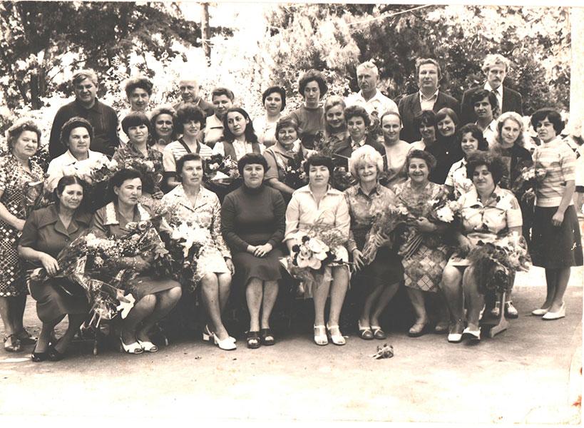 Учительский коллектив 80-е годы