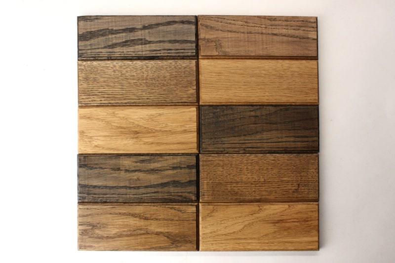 Деревянная плитка с фаской прямоугольной формы цвет венге