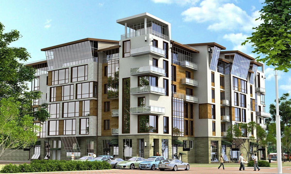 Красивые фасады многоэтажных домов фото считаем