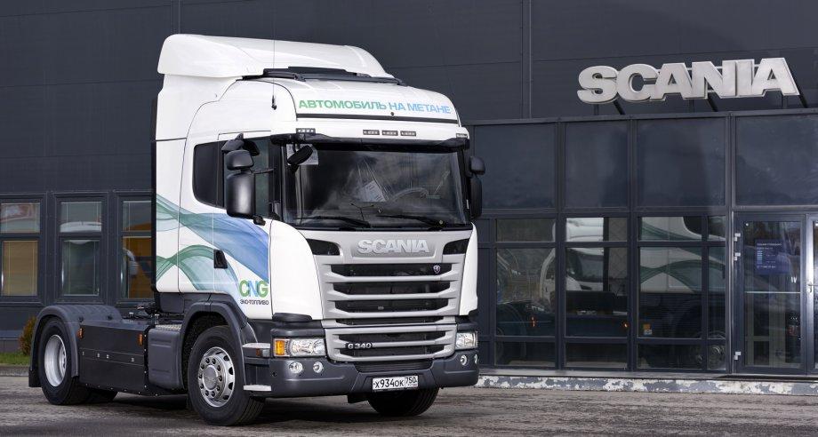 Тягачи Scania G 340 LA4x2 MNA оснащены двигателями, работающими на сжатом метане (фото: Scania)