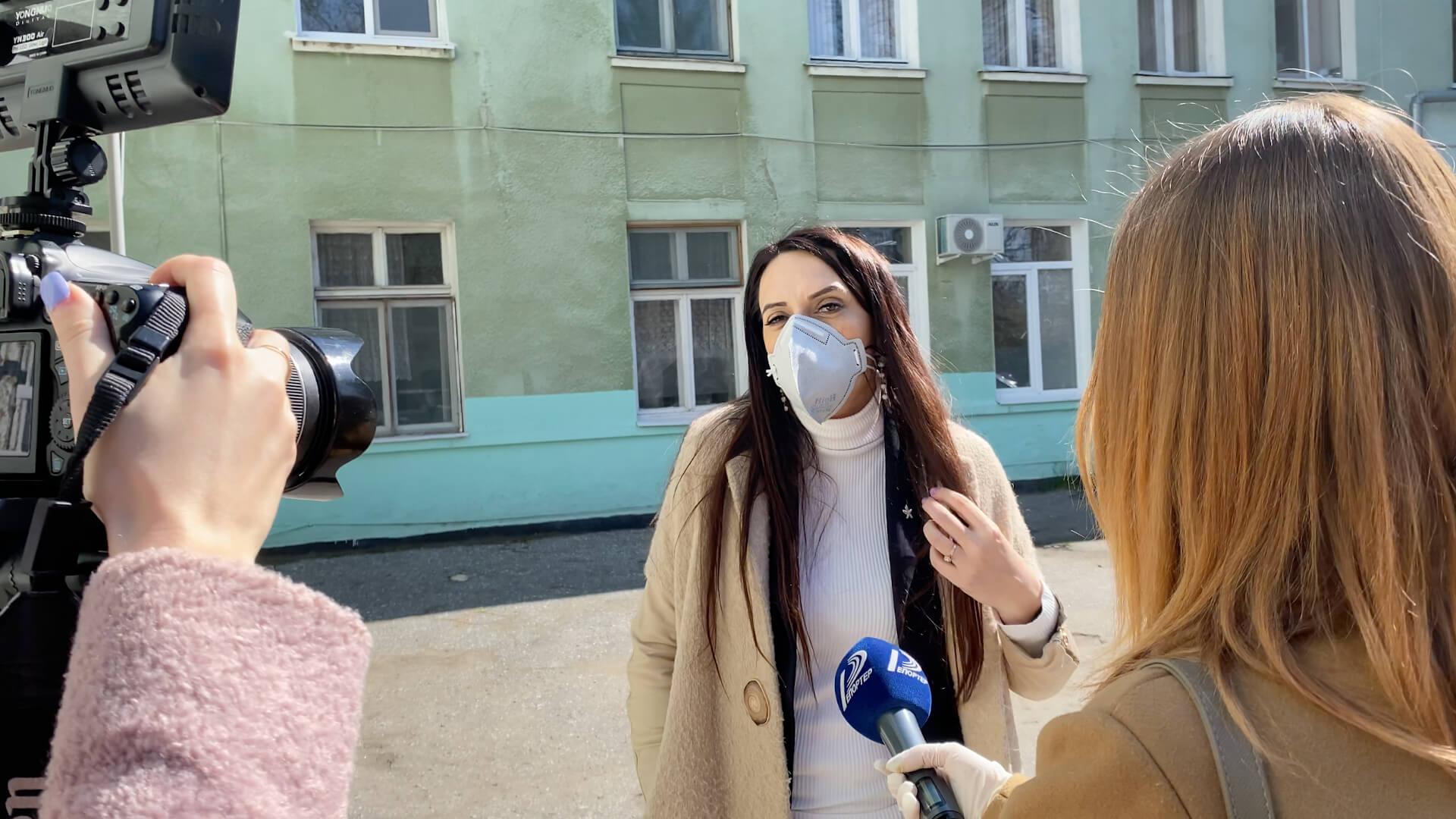Интервью в одесской больнице водников