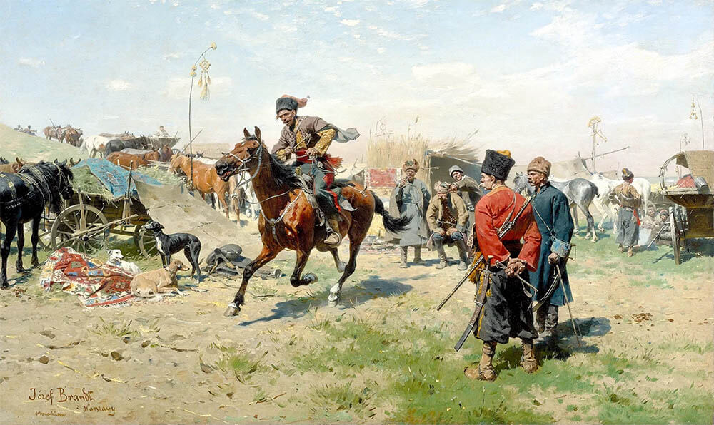 Юзеф Брандт. «Запорожцы» (XIX в.)