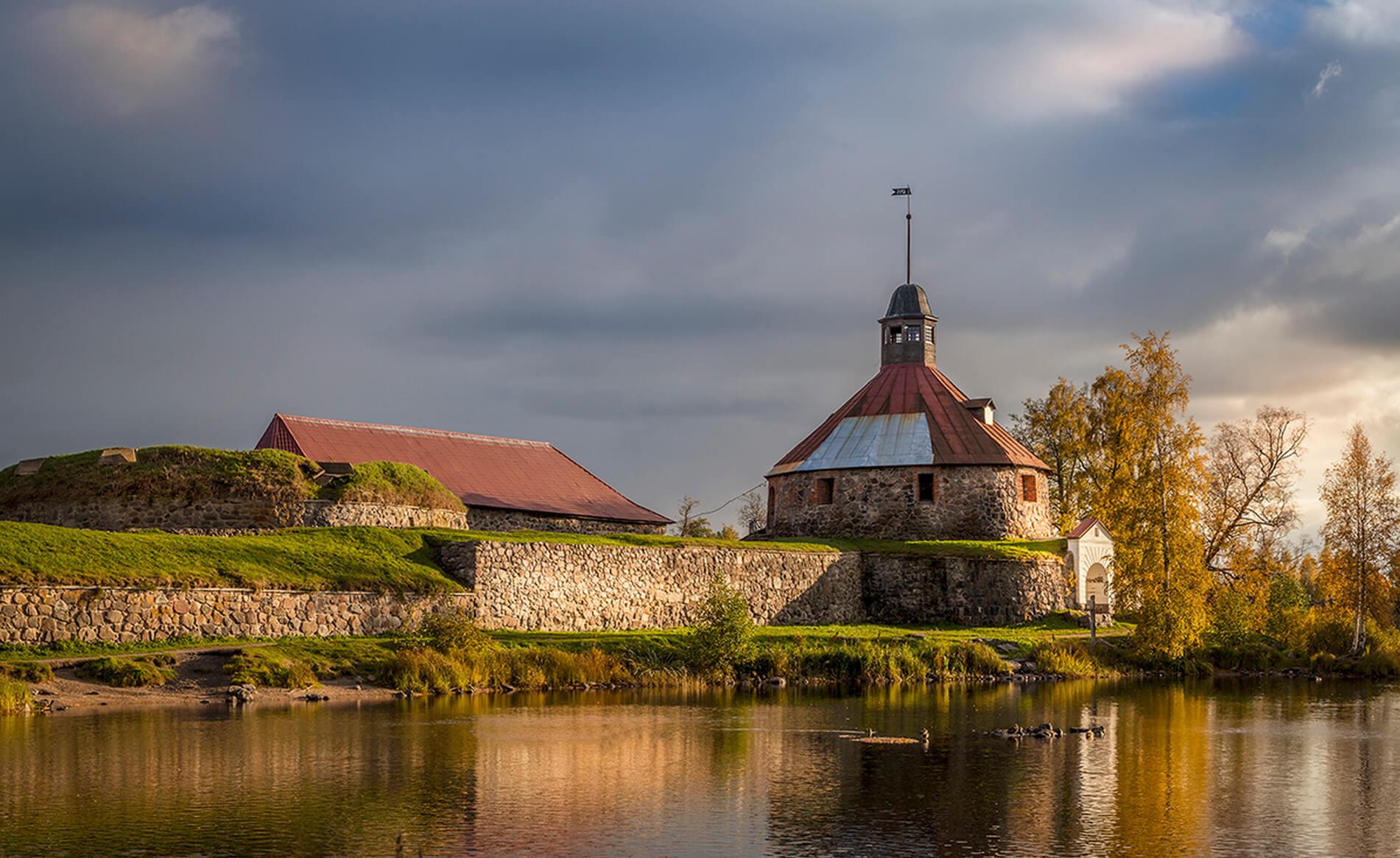 Крепость Корела Ладожское озеро