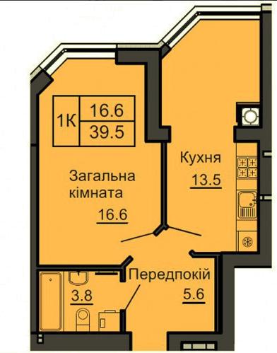 Однокомнатные квартиры в готовом доме ЖК София