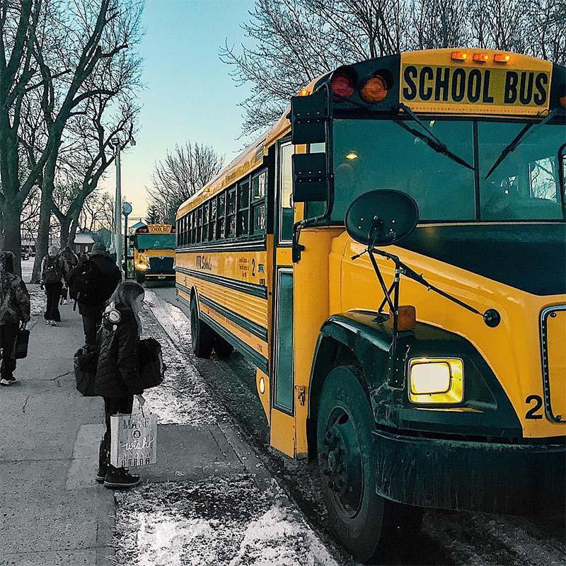 Автобусы и учителя