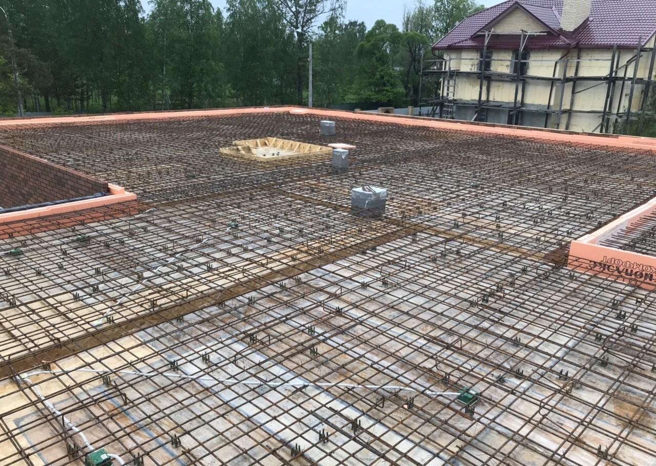 Армирование на плитном фундаменте