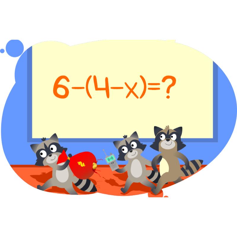 Решение примеров с переменными в задачах с енотами