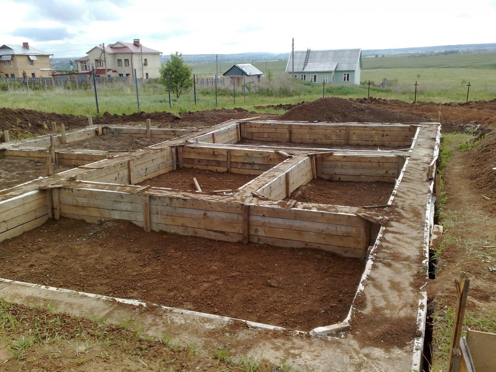 строительство фундамента с чего начинать