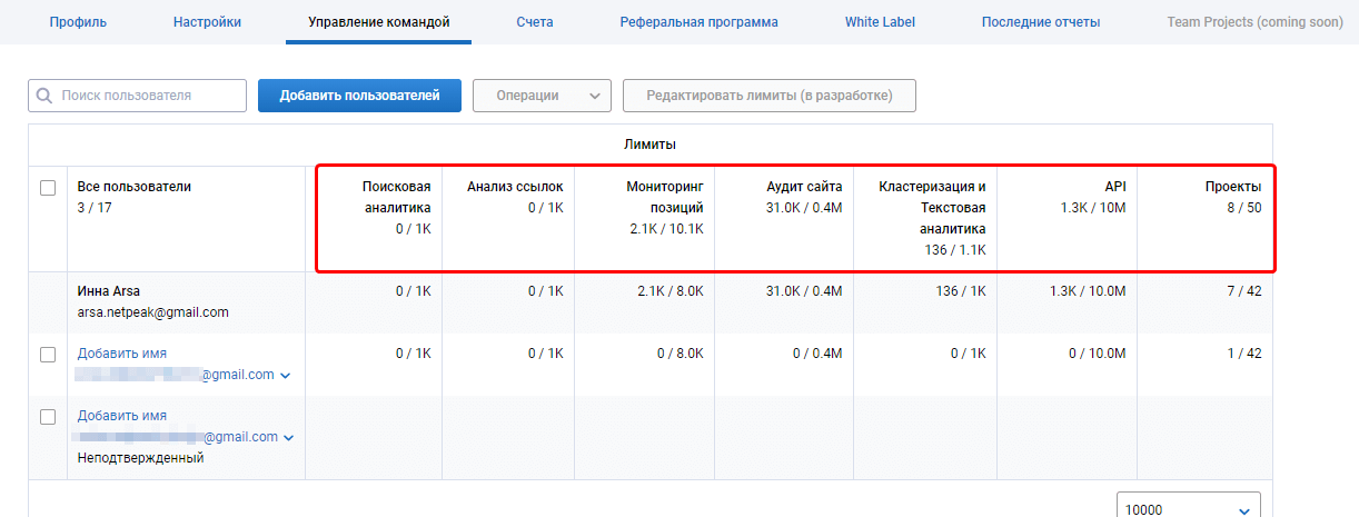 Как управлять SEO-командой в рамках одного проекта: мультиюзерность в Serpstat 16261788160078