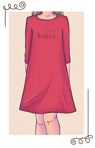 Рокля с А силует. Характерна е с прилепнали рамене, без подчертаване на талията и разширяваща се долна част.