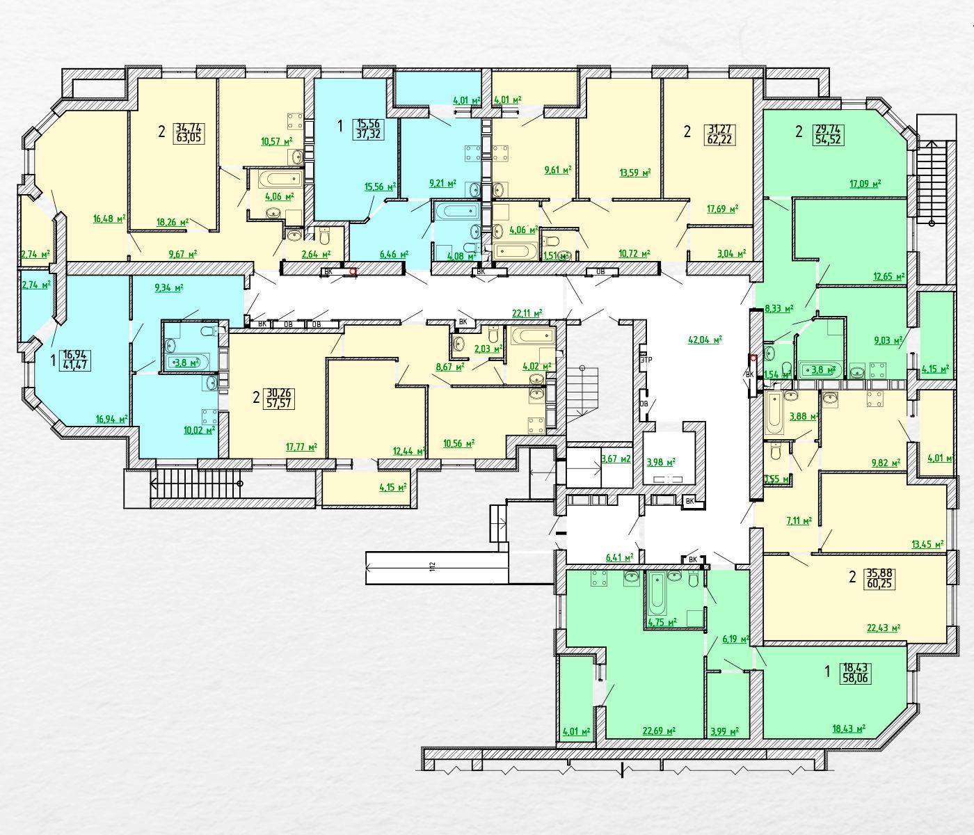 Планировки жилого комплекса Московский