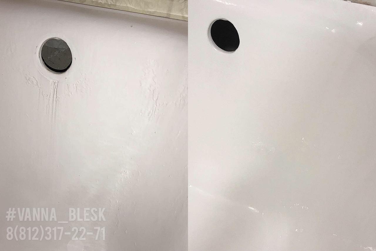 Реставрация ванны жидким акрилом - Пример готовой работы