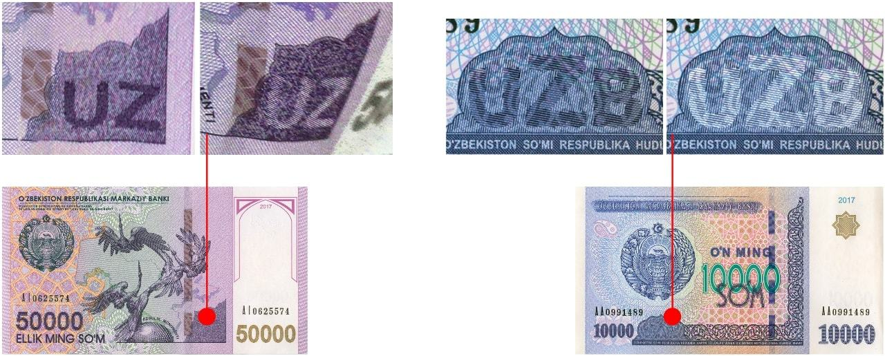 Кипп-эффект на банкнотах