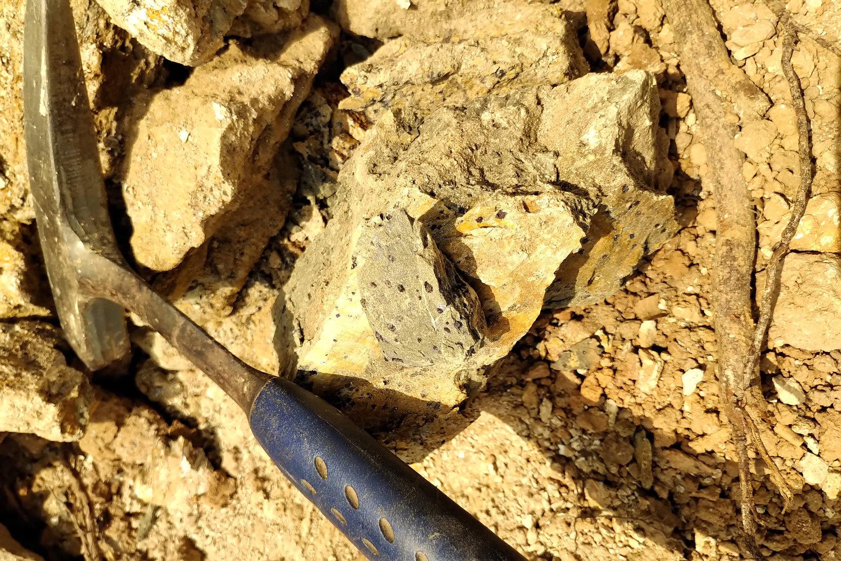 Kubi East TR3 - magnetite in Tarkwaian meta sediment